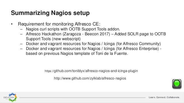 Alfresco monitoring with Nagios and ELK stack
