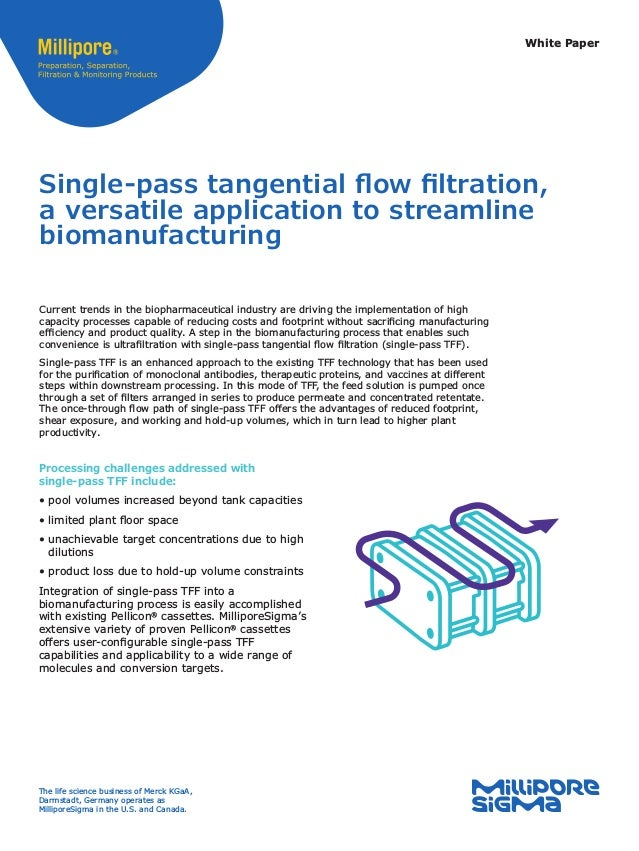White Paper Single-pass tangential flow filtration, a versatile application to streamline biomanufacturing Current trends ...