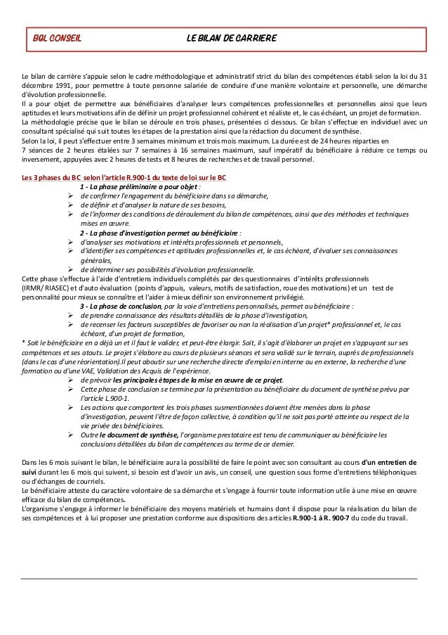 Lebilandecarrières'appuieselonlecadreméthodologiqueetadministratifstrictdubilandescompétencesétabliselon...