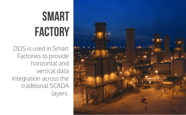 CopyrightPrismTech,2015 DDS is used in Smart Factories to provide horizontal and vertical data integration across the trad...