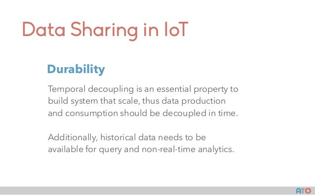 Data Sharing in IoT Temporal decoupling is an essential property to build system that scale, thus data production and cons...