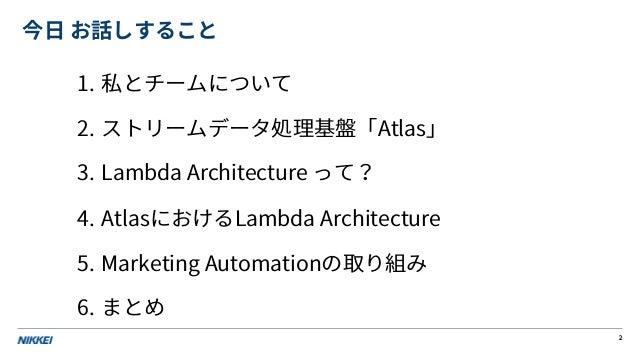 AWSで作るリアルタムMA・コスト効率と性能を追求したLambda Architecture Slide 2