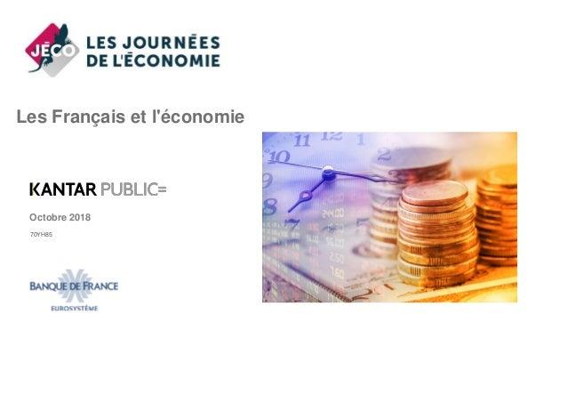 Les Français et l'économie Octobre 2018 70YH85