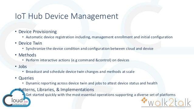 Gestire i devices con Azure IoT Hub e IoT Edge