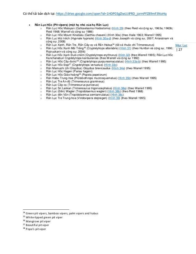 Có thể tải bản dịch tại: https://drive.google.com/open?id=1HDP03gZIwUJiPRD_jormPFZ89mF3NoHq Mục Lục | 27 • Rắn Lục Hốc (Pi...