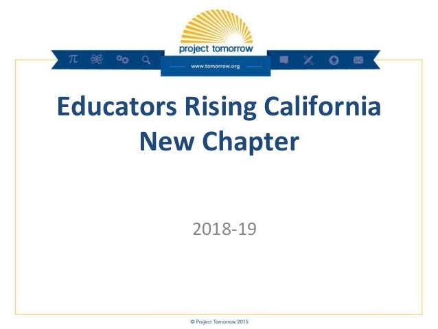 Educators Rising California New Chapter 2018-19