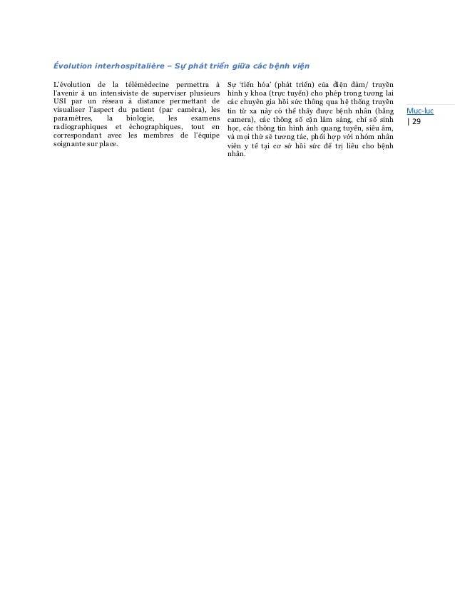 Mục-lục   29 Évolution interhospitalière – Sự phát triển giữa các bệnh viện L'évolution de la télémédecine permettra à l'a...