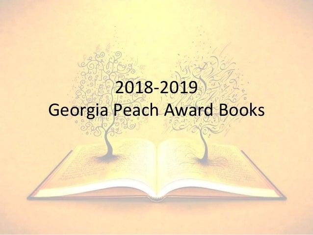 2018-2019 Georgia Peach Award Books