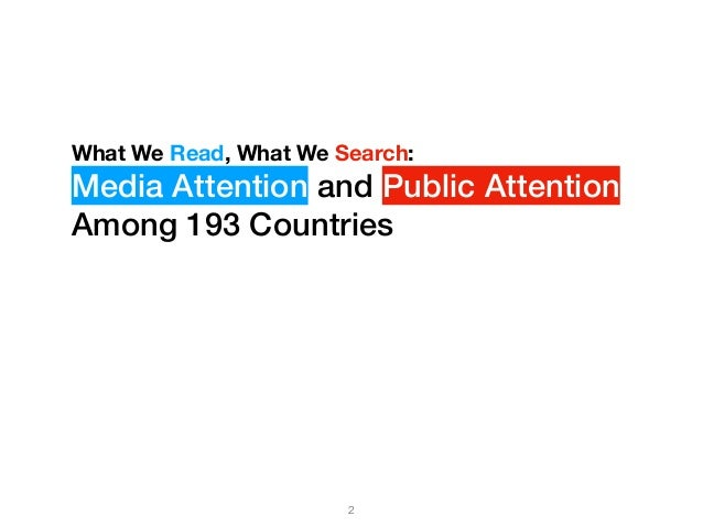 What We Read, What We Search: Media Attention and Public Attention Among 193 Countries Slide 2