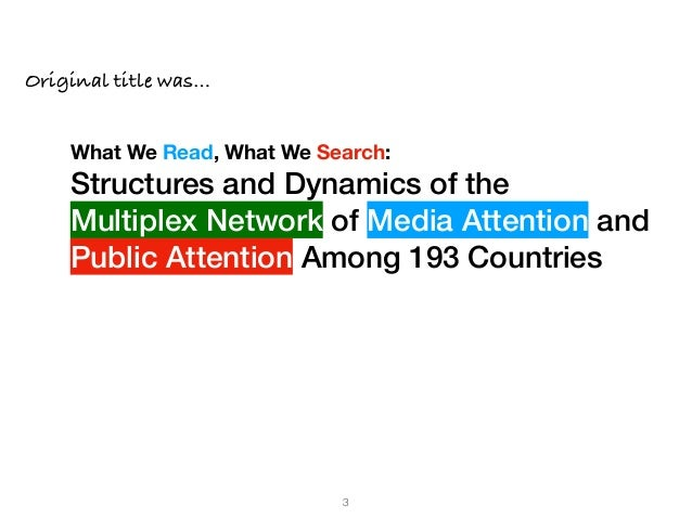 What We Read, What We Search: Media Attention and Public Attention Among 193 Countries Slide 3