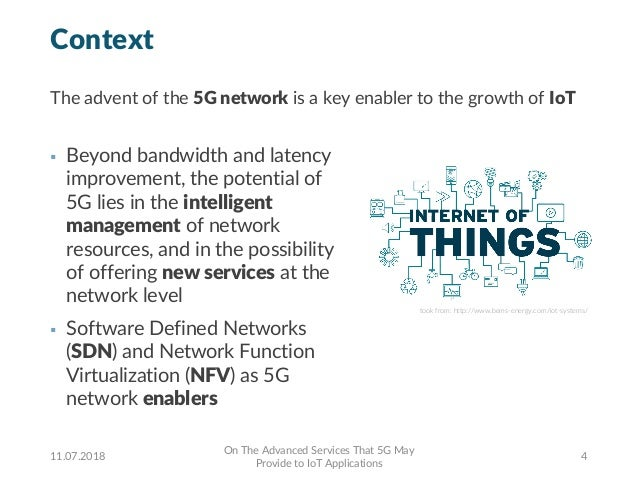 Context § Beyond bandwidth and latency improvement, the potential of 5G lies in the intelligent management of network reso...