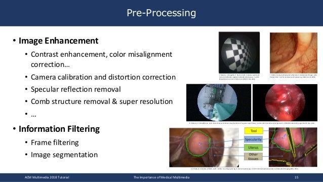 Pre-Processing • Image Enhancement • Contrast enhancement, color misalignment correction… • Camera calibration and distort...
