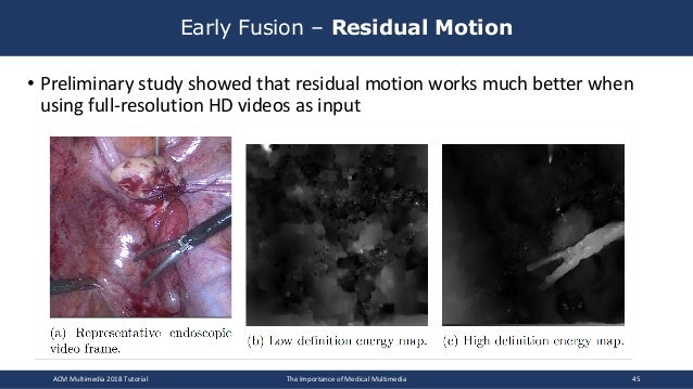• Preliminary study showed that residual motion works much better when using full-resolution HD videos as input Early Fusi...