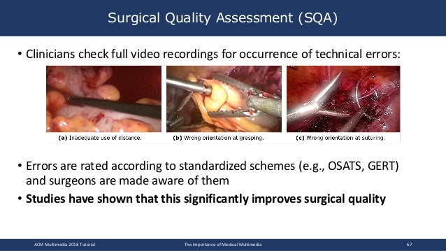 • Clinicians check full video recordings for occurrence of technical errors: • Errors are rated according to standardized ...
