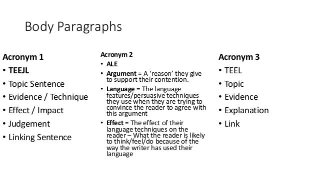teel essay acronym