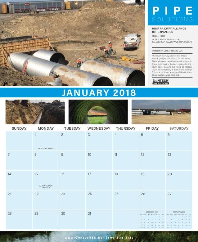 2018 Contech Calendar Slide 2
