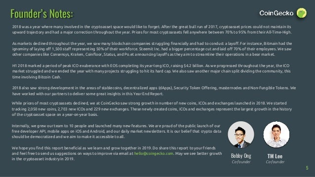 CoinGecko 2018 Full Year Cryptocurrency Report