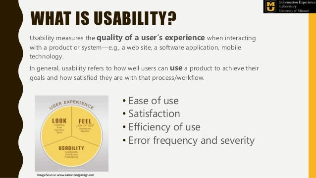 WHAT IS USABILITY? Usability measures the quality of a user's experience when interacting with a product or system—e.g., a...