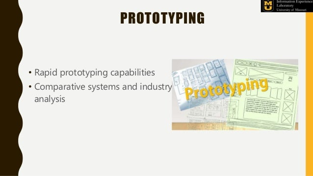 PROTOTYPING • Rapid prototyping capabilities • Comparative systems and industry analysis