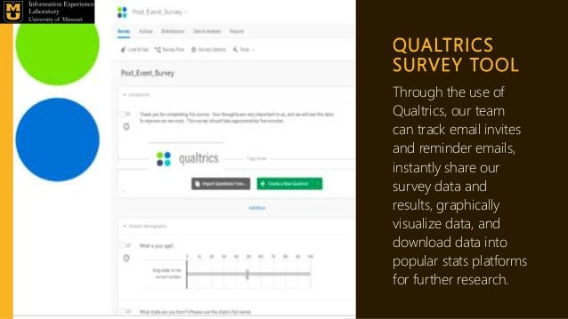 QUALTRICS SURVEY TOOL Through the use of Qualtrics, our team can track email invites and reminder emails, instantly share ...