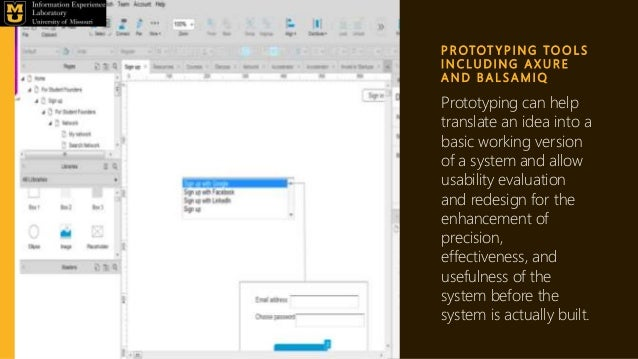 P R OTOT Y P I N G TO O L S I N C L U D I N G A X U R E A N D B A L S A M I Q Prototyping can help translate an idea into ...