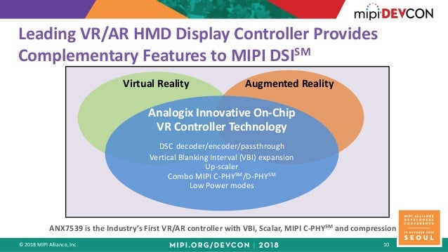 MIPI DevCon Seoul 2018: High-Performance VR Applications Drive High-R…