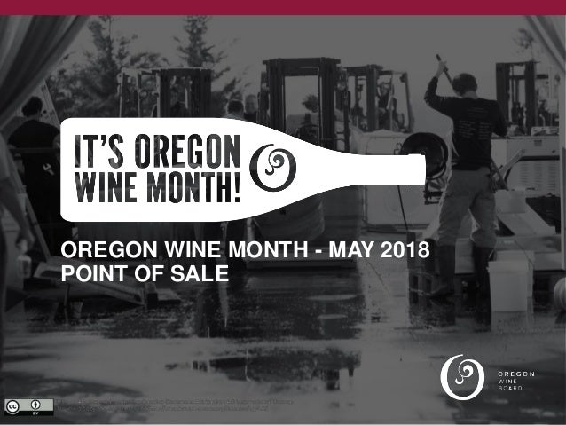 OREGON WINE MONTH - MAY 2018 POINT OF SALE