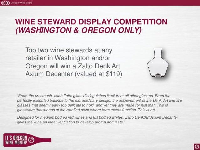 2018 Oregon Wine Month Trade Program Overview