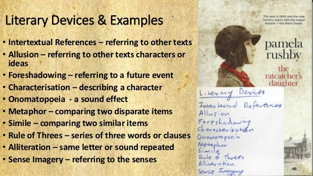 Ratcatchers Daughter Literary Devices And Examples
