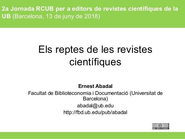 Tècniques instrumentals (Grau d'Antropologia) – Curs 2015-162a Jornada RCUB per a editors de revistes científiques de la U...