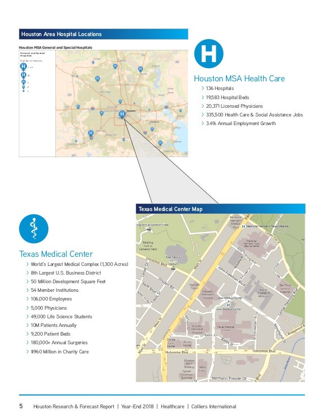 Map Of Texas Medical Center.Year End 2018 Houston Healthcare Research Forecast Report