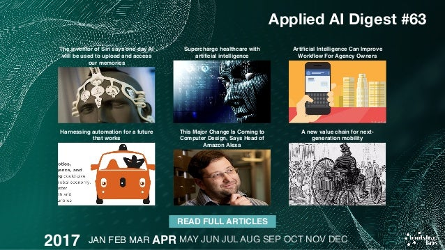 Applied artificial intelligence digest 2017 review 26 stopboris Gallery
