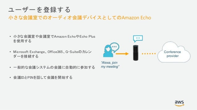 Voice-enabled office Quick access to business metrics Conference automation with Amazon Chime Inventory status check on in...