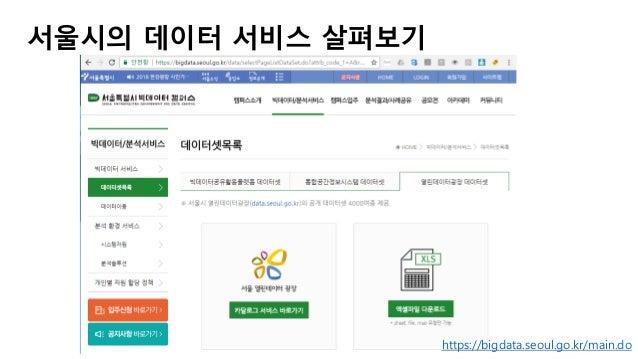 https://bigdata.seoul.go.kr/main.do 서울시의 데이터 서비스 살펴보기