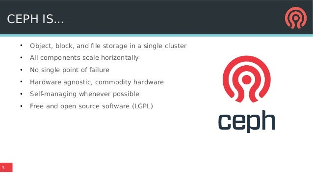 Making distributed storage easy: usability in Ceph Luminous and beyond Slide 3