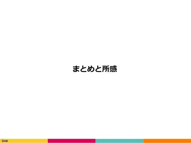 Copyright(C)DeNACo.,Ltd.AllRightsReserved. まとめと所感