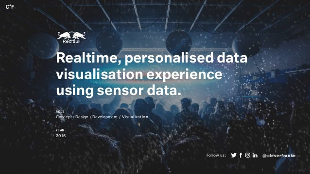 Realtime, personalised data visualisation experience using sensor data. ROLE Concept / Design / Development / Visualizatio...