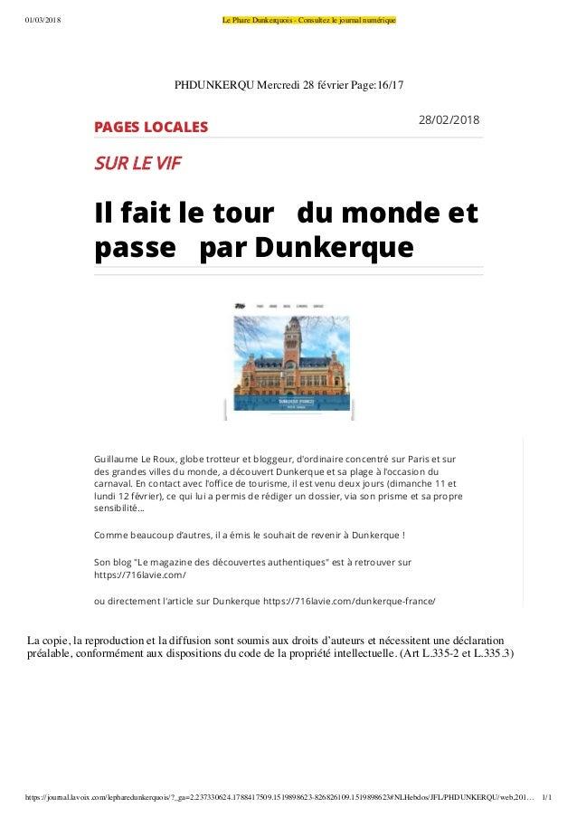 01/03/2018 Le Phare Dunkerquois - Consultez le journal numérique https://journal.lavoix.com/lepharedunkerquois/?_ga=2.2373...