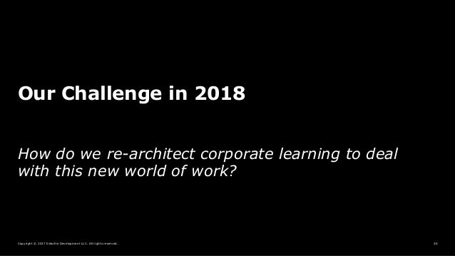 Copyright © 2017 Deloitte Development LLC. All rights reserved. 20 Our Challenge in 2018 How do we re-architect corporate ...