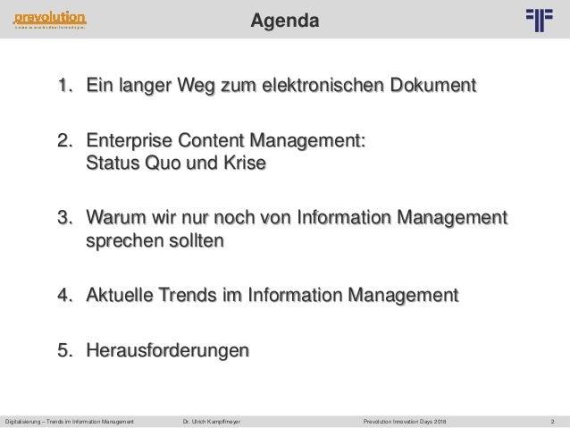 DE] Digitalisierung – Trends im Information Management | Dr. Ulrich …