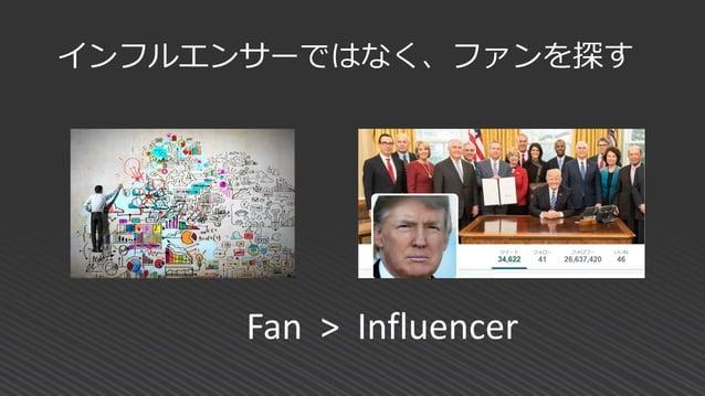 インフルエンサーではなく、ファンを探す Fan > Influencer