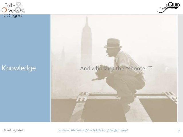 Knowledge © 2018 Luigi Muzii Hic et nunc: What will the future look like in a global gig economy? 32 What do you know abou...