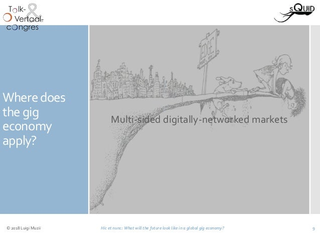 Where does the gig economy apply? Multi-sided digitally-networked markets © 2018 Luigi Muzii Hic et nunc: What will the fu...