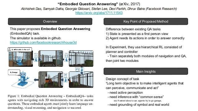 DL輪読会LT Embodied Question Answering, World Models 輪読 Slide 3