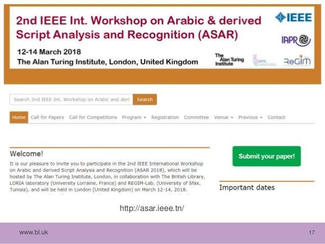 The Ground Truth: Arabic Scientific Manuscripts Workshop