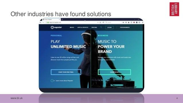 www.bl.uk 4 Other industries have found solutions