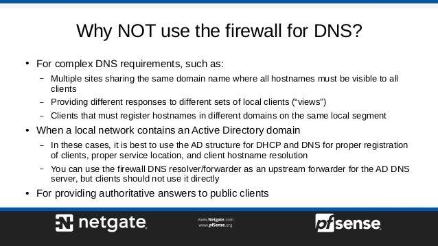 Local DNS with pfSense 2 4 - pfSense Hangout April 2018