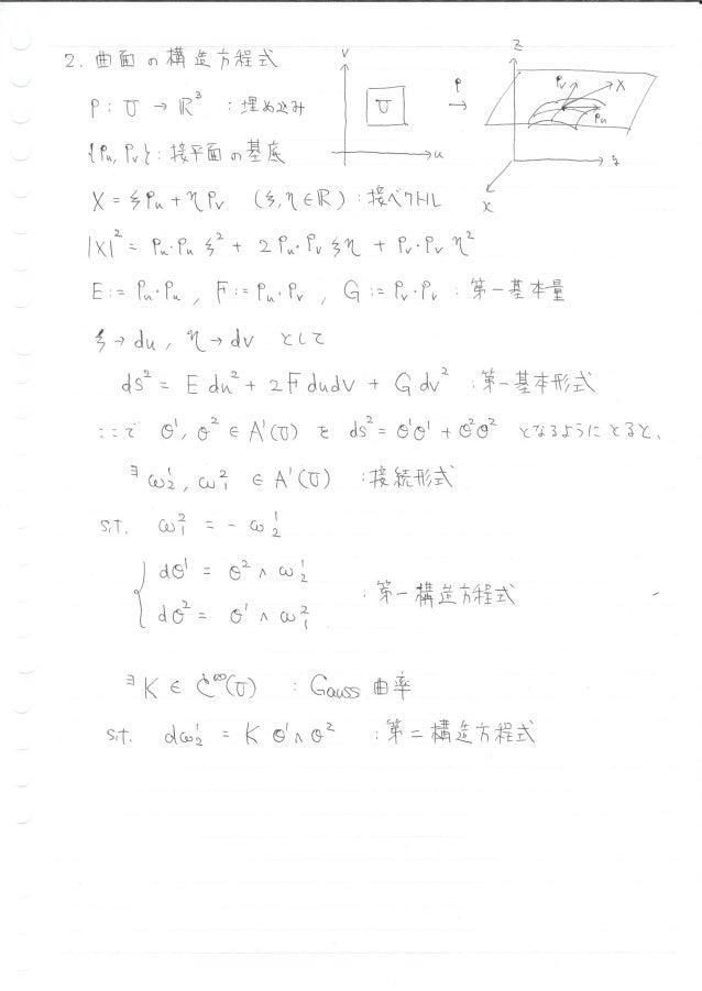 20180414_微分形式でGauss曲率を計算する Slide 2