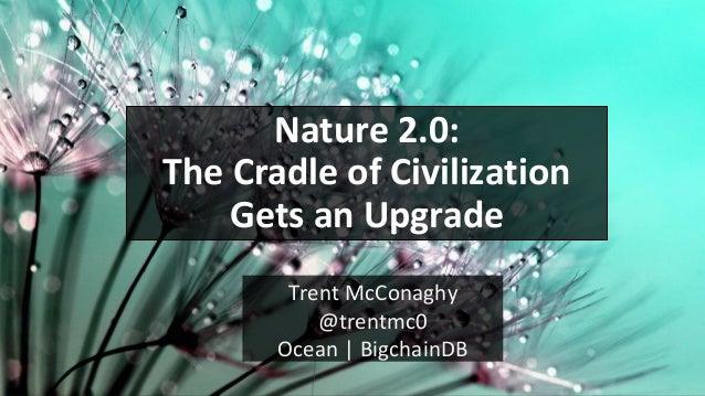 Trent McConaghy @trentmc0 Ocean | BigchainDB Nature 2.0: The Cradle of Civilization Gets an Upgrade
