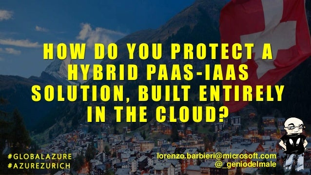HOW DO YOU PROTECT A HYBRID PA AS-IA AS SOLUTION, BUILT ENTIRELY IN THE CLOUD? # G LO B A L A Z U R E # A Z U R E Z U R I ...